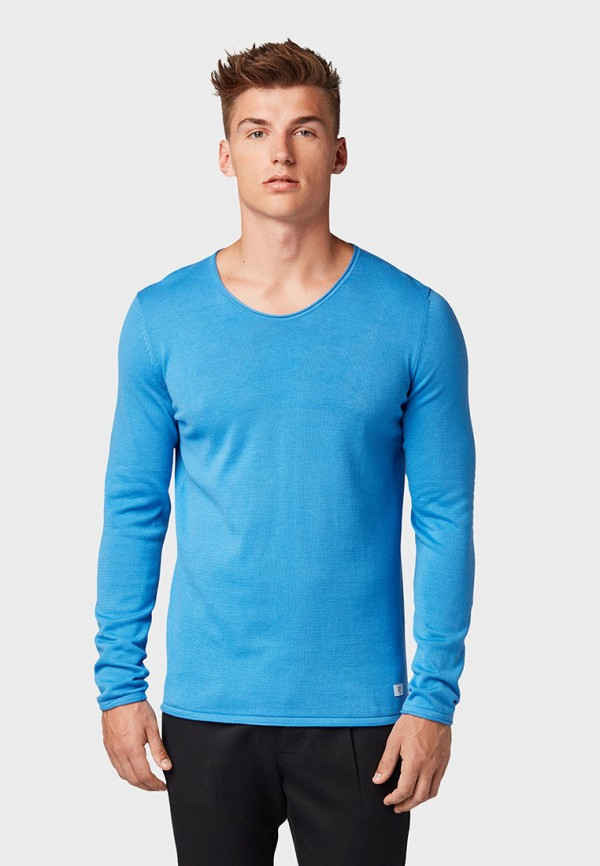 Фото - мужской пуловер Tom Tailor Denim синего цвета