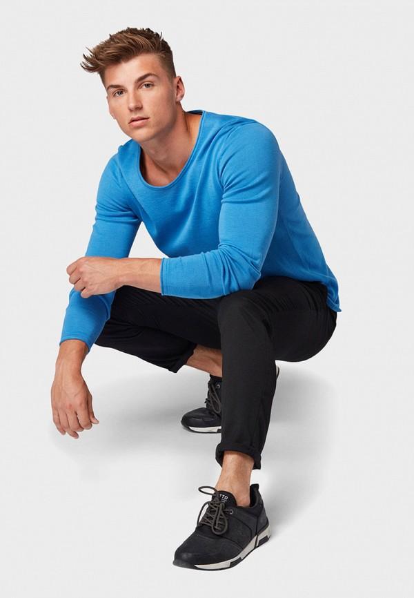 Фото 2 - мужской пуловер Tom Tailor Denim синего цвета