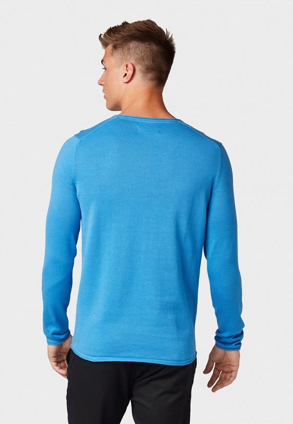 Фото 3 - мужской пуловер Tom Tailor Denim синего цвета