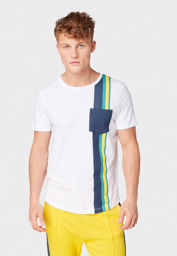 Фото - мужскую футболку Tom Tailor Denim белого цвета