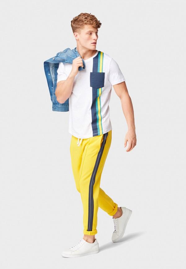 Фото 2 - мужскую футболку Tom Tailor Denim белого цвета