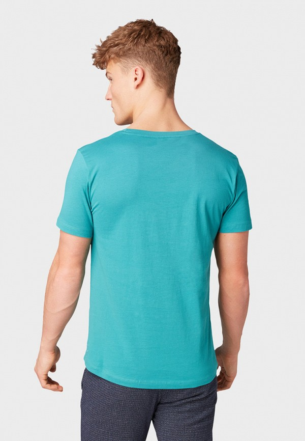 Фото 3 - мужскую футболку Tom Tailor Denim бирюзового цвета