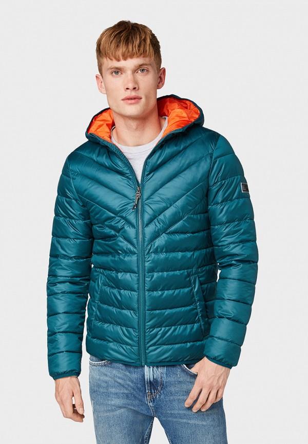 мужская куртка tom tailor, бирюзовая