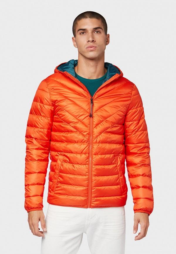 мужская куртка tom tailor, оранжевая