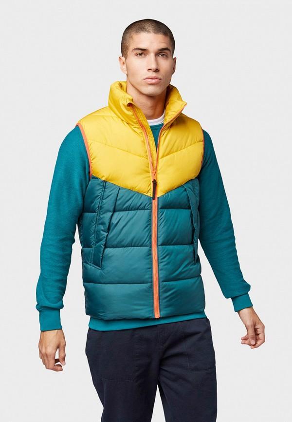 мужской жилет tom tailor, зеленый