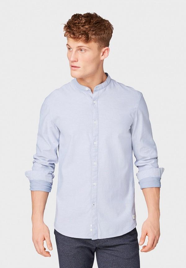 мужская рубашка с длинным рукавом tom tailor, голубая