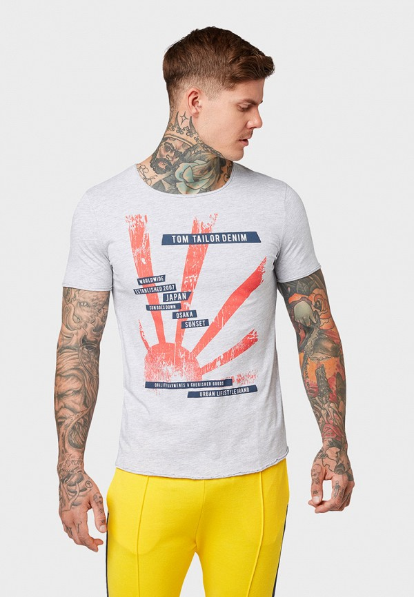 Футболка Tom Tailor Denim Tom Tailor Denim TO793EMGBDC3 рубашка tom tailor denim tom tailor denim to793emdtdu1