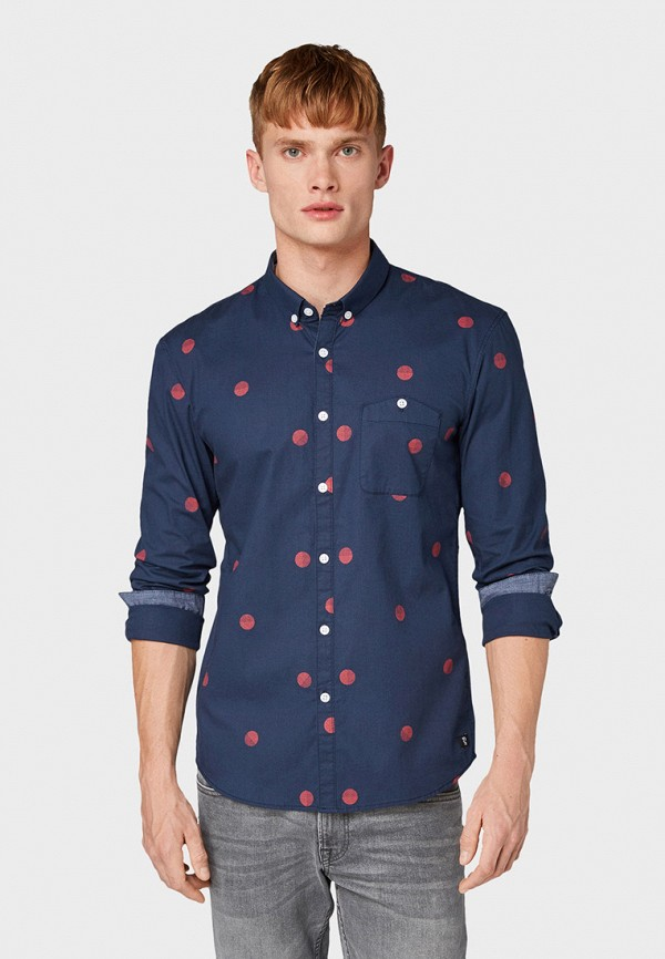 Рубашка Tom Tailor Denim Tom Tailor Denim TO793EMGBDD4 рубашка regular tom tailor р s int 46 ru 37