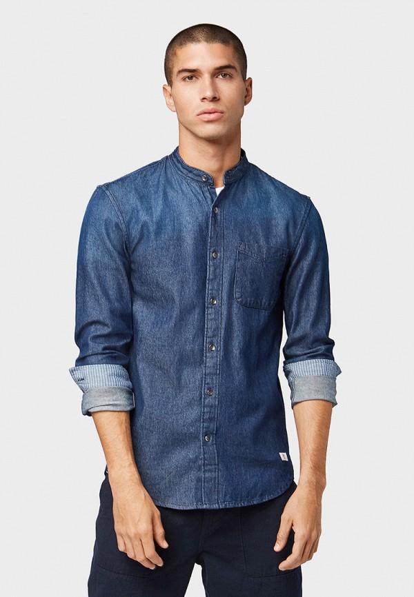 мужская джинсовые рубашка tom tailor, синяя