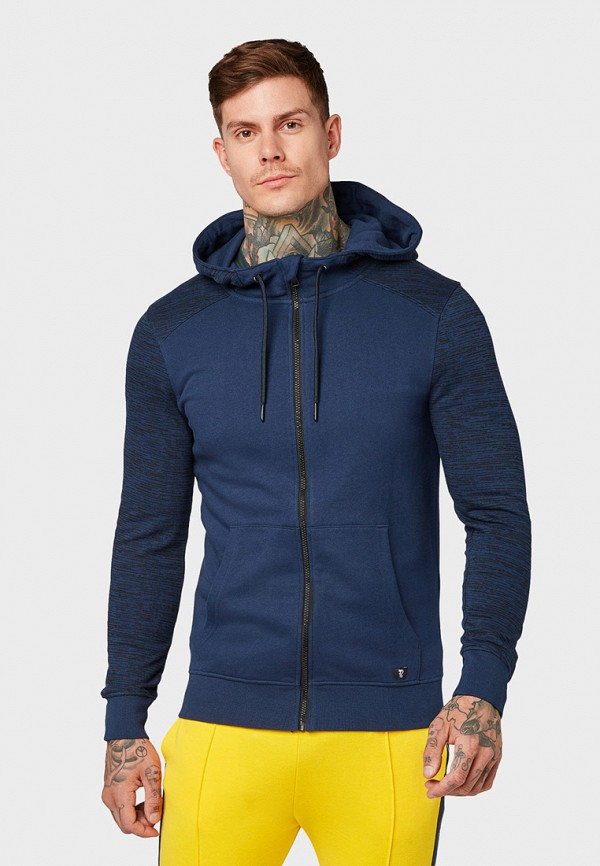 мужская толстовка tom tailor, синяя