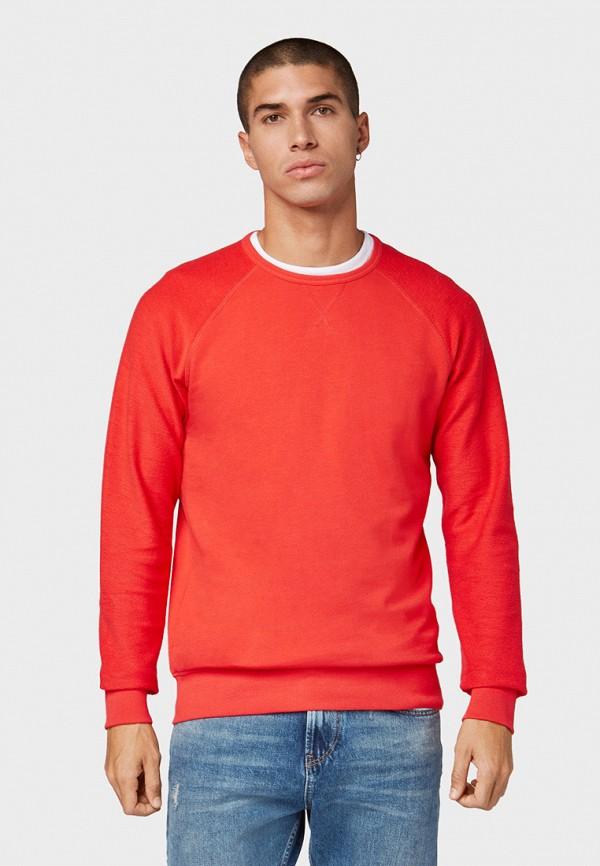 мужской свитшот tom tailor, красный