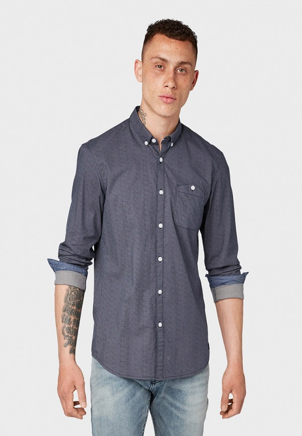 Рубашка Tom Tailor Denim Tom Tailor Denim TO793EMGBDH3 рубашка regular tom tailor р s int 46 ru 37