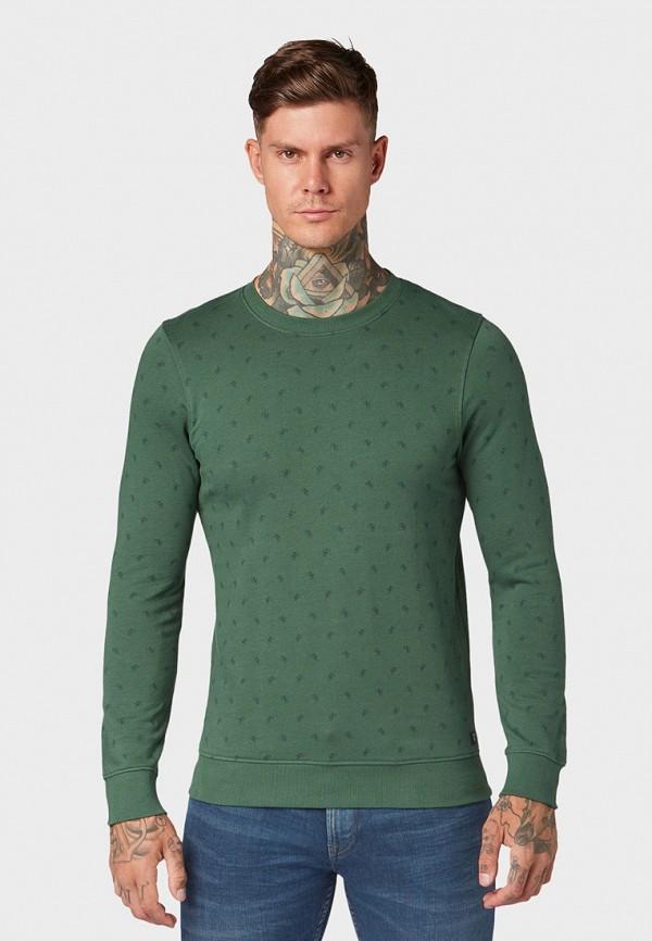 мужской свитшот tom tailor, зеленый