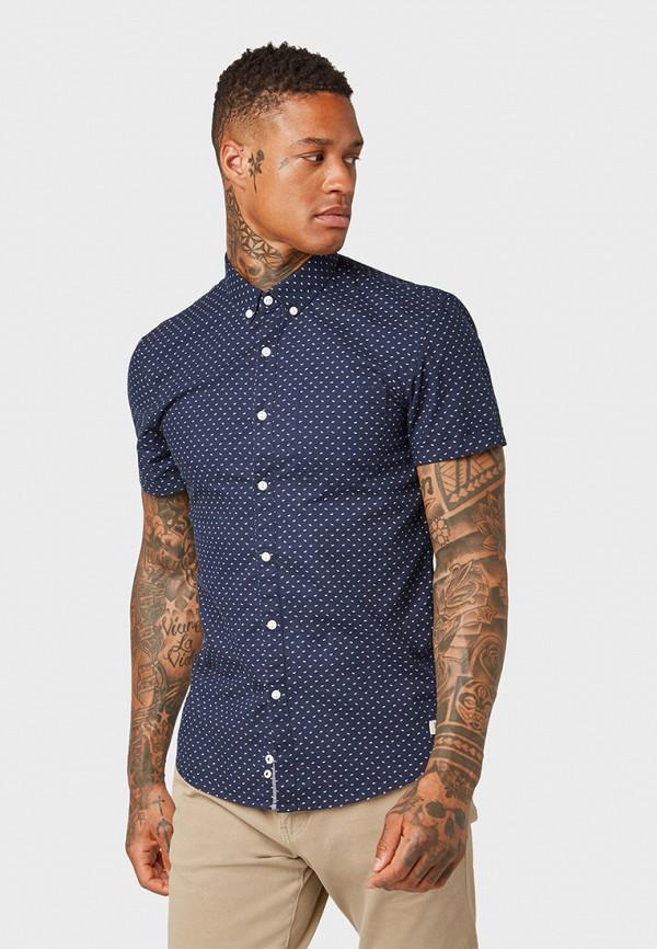 Фото - мужскую рубашку Tom Tailor Denim синего цвета