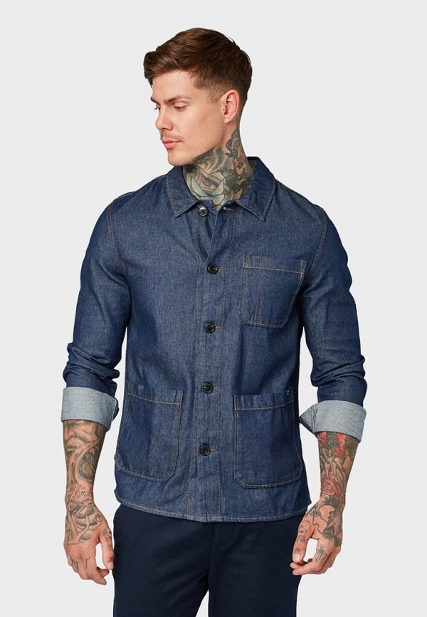 Рубашка джинсовая Tom Tailor Denim Tom Tailor Denim TO793EMGSHG5 рубашка regular tom tailor р s int 46 ru 37
