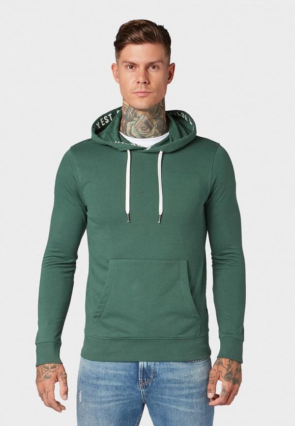 мужские худи tom tailor, зеленые