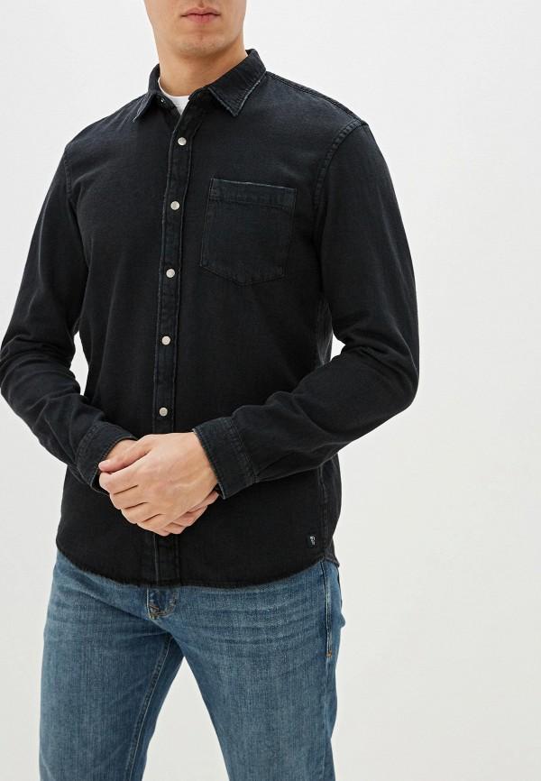 мужская джинсовые рубашка tom tailor, черная