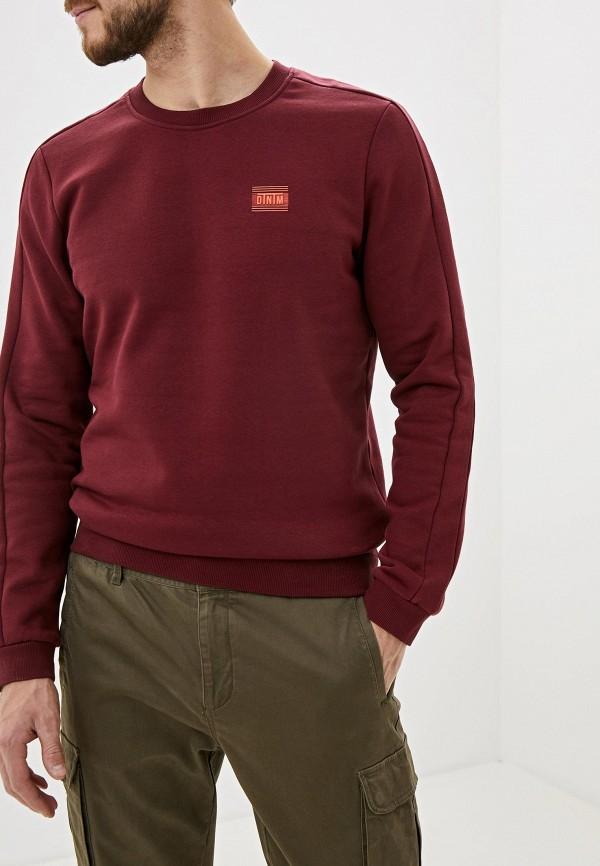 мужской свитшот tom tailor, бордовый