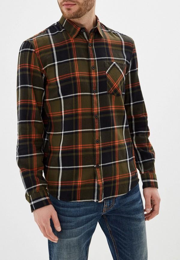 мужская рубашка с длинным рукавом tom tailor, хаки