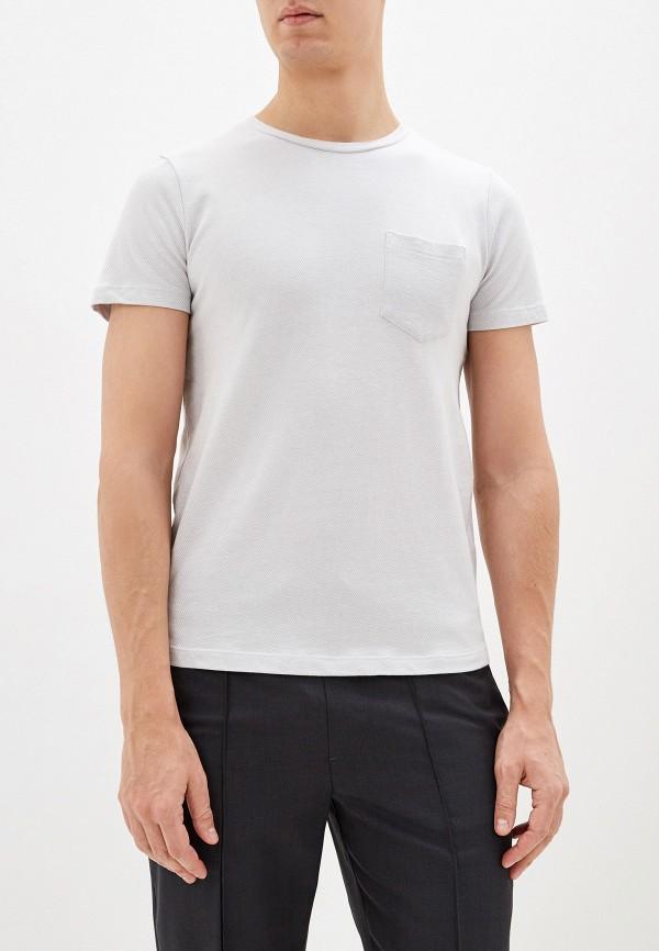 мужская футболка с коротким рукавом tom tailor, серая