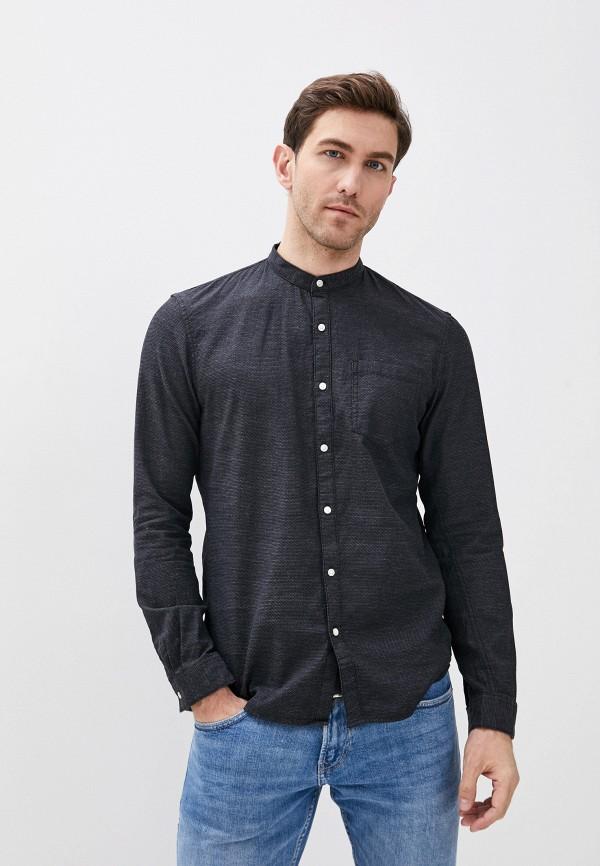 мужская рубашка с длинным рукавом tom tailor, серая