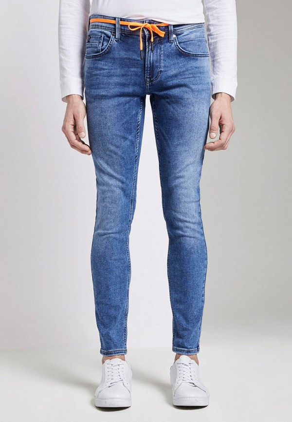 мужские зауженные джинсы tom tailor, синие
