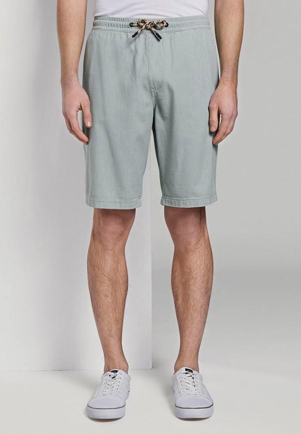 мужские повседневные шорты tom tailor, бирюзовые
