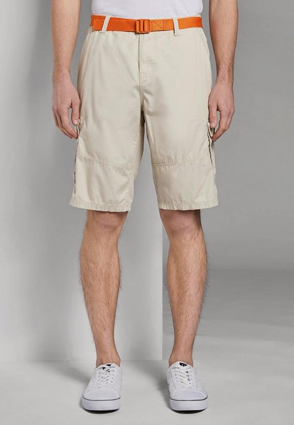 мужские повседневные шорты tom tailor, бежевые