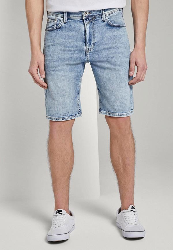 мужские джинсовые шорты tom tailor, голубые