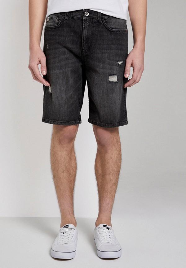 мужские джинсовые шорты tom tailor, черные
