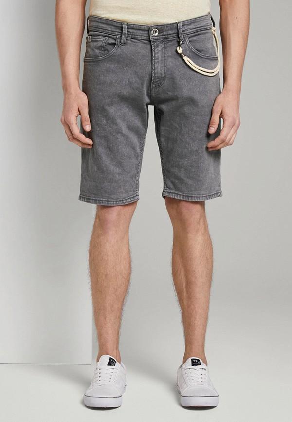 мужские джинсовые шорты tom tailor, серые