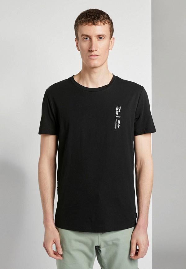 мужская футболка с коротким рукавом tom tailor, черная