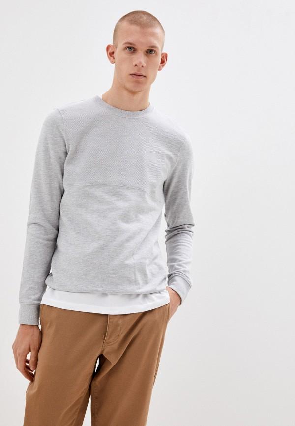 мужской свитшот tom tailor, серый