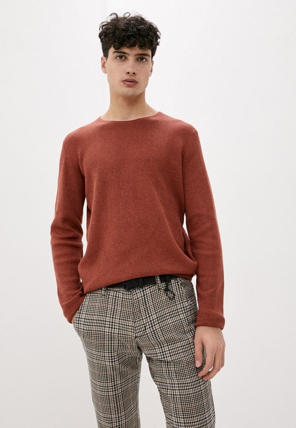 мужской джемпер tom tailor, коричневый