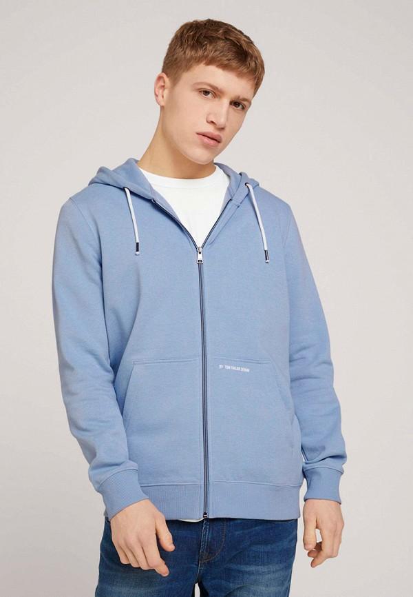 мужская толстовка tom tailor, голубая