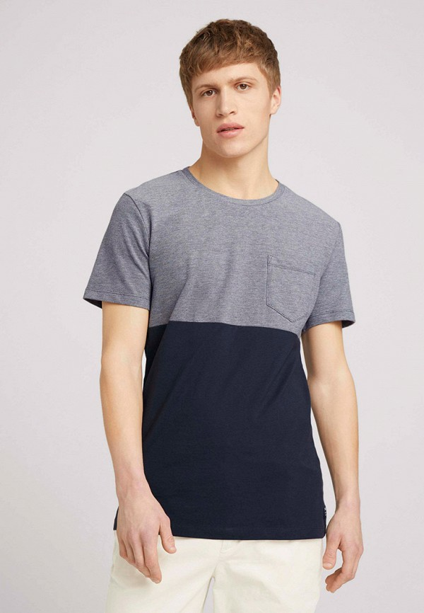 мужская футболка с коротким рукавом tom tailor, разноцветная