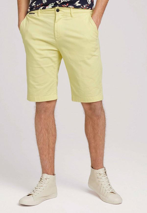 мужские повседневные шорты tom tailor, желтые
