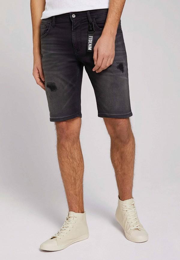 Шорты джинсовые Tom Tailor Denim. Цвет: черный