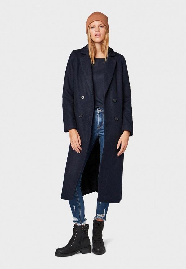 женское пальто tom tailor, синее
