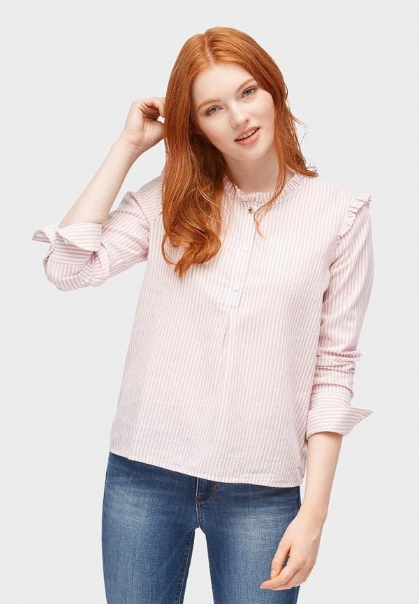 Купить Блуза Tom Tailor Denim, TO793EWBXFI2, розовый, Осень-зима 2018/2019