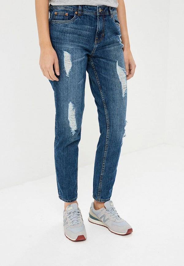 женские джинсы бойфренд tom tailor, синие