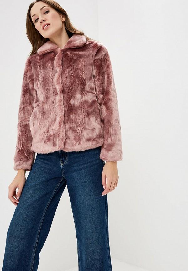 женская шуба tom tailor, розовая