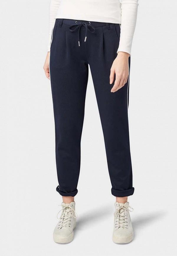 женские спортивные спортивные брюки tom tailor, синие