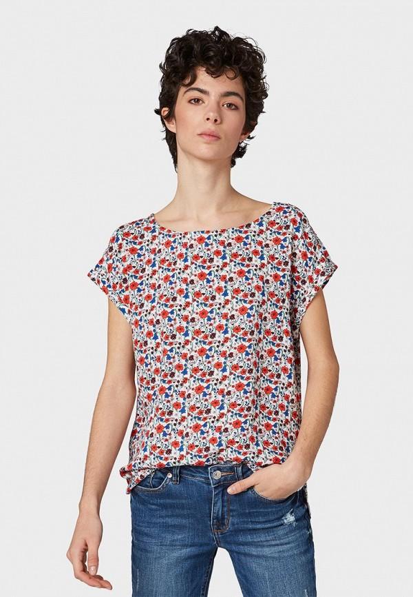 женский топ tom tailor, разноцветный