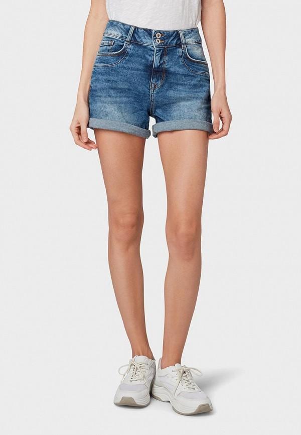 женские джинсовые шорты tom tailor, синие