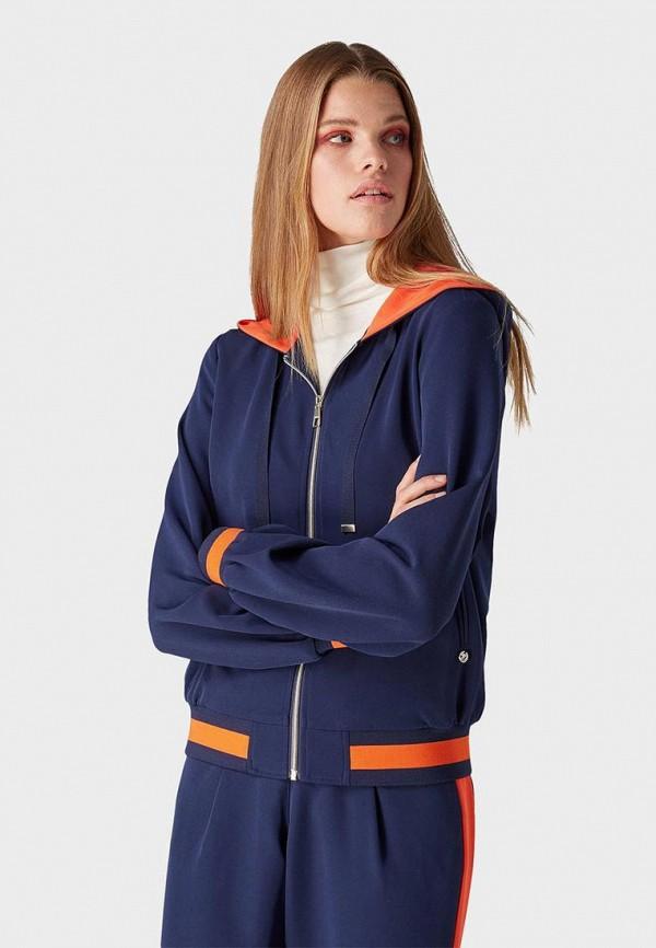женская олимпийка tom tailor, синяя