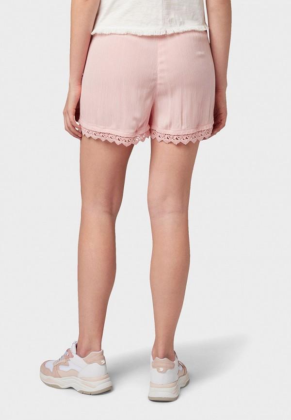 Фото 3 - женские шорты Tom Tailor Denim розового цвета