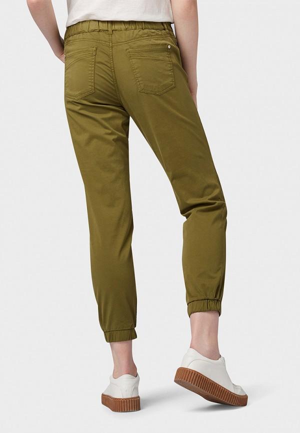 Фото 3 - женские брюки Tom Tailor Denim цвета хаки