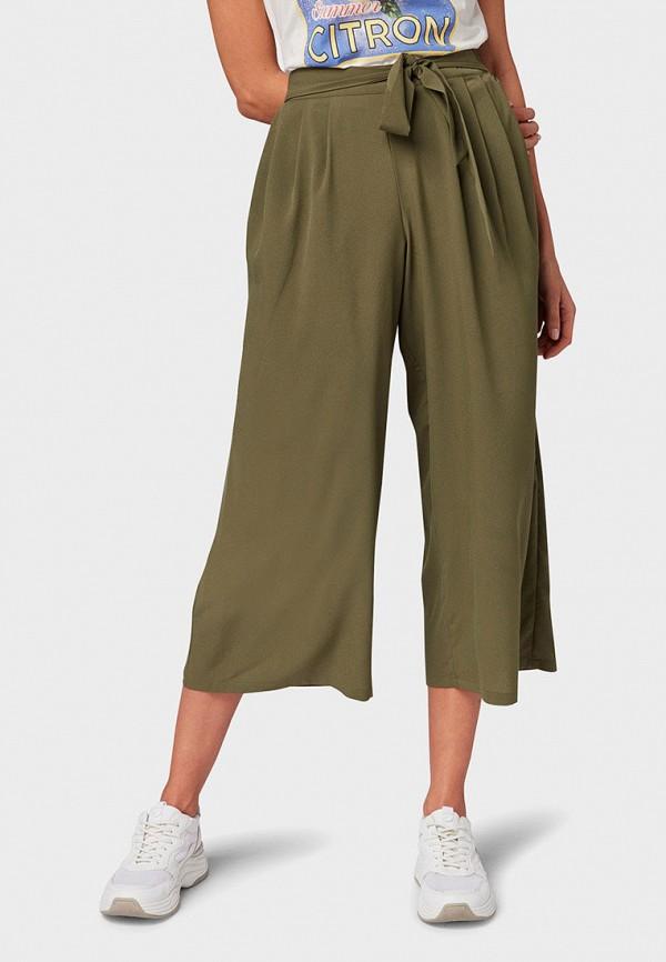 женские повседневные брюки tom tailor, хаки