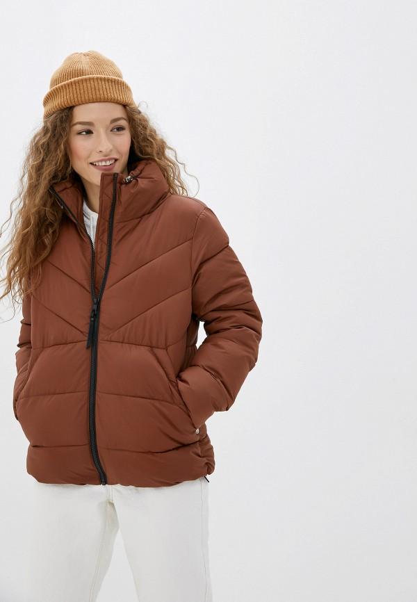 Фото - Куртку утепленная Tom Tailor Denim коричневого цвета